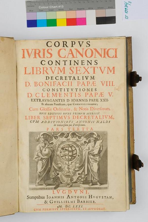 Jean Antoine Huguetan, neurčený autor - Corpus iuri canonici continens librum sextum decretalium. 3.díl