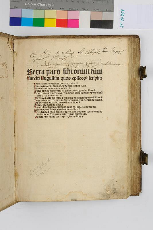Augustinus Aurelius, Johann Amerbach - Sexta pars librorum divi Aureliji  Augustini