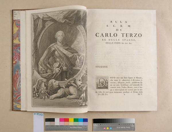 neurčený autor – Le pitture antiche d'Ercolano e contorni incise noc qualche spiegazione. Tomo terzio