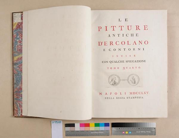 neurčený autor – Le pitture antiche d'Ercolano e contorni incise noc qualche spiegazione. Tomo quarto