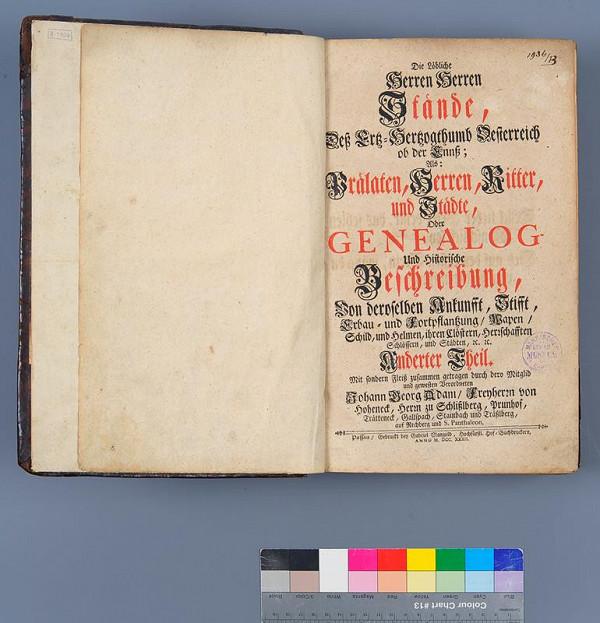 Johann Georg Adam Hoheneck, Gabriel Mangold – Genealog- und Historische Beschreibung. Anderter Theil