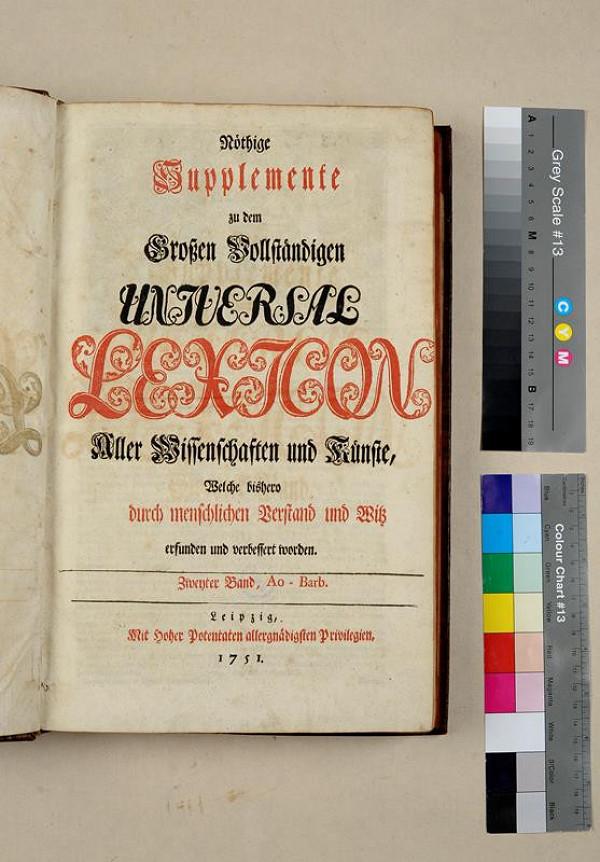neurčený autor – Nöthige Supplemente zu dem Großen Vollständigen Universal Lexikon aller Wissenschaften und Künste. Zweyter Band
