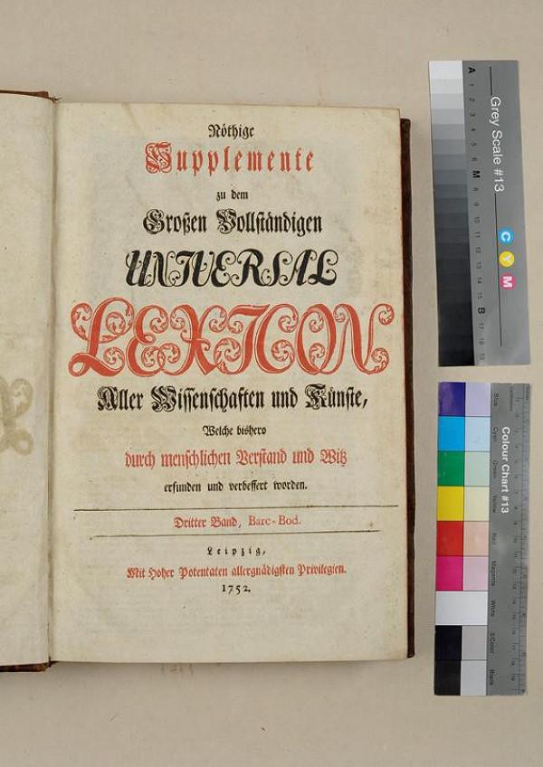 neurčený autor – Nöthige Supplemente zu dem Großen Vollständigen Universal Lexikon. Dritter Band