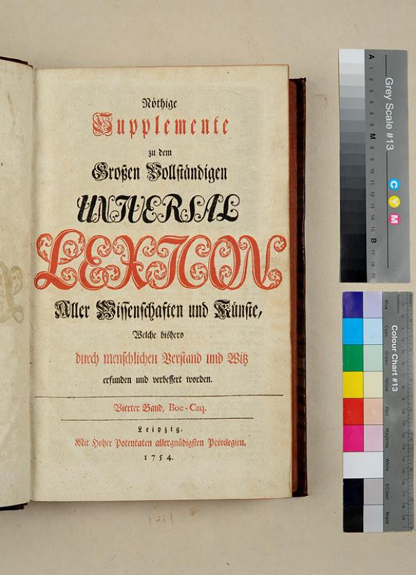 neurčený autor – Nöthige Supplemente zu dem Großen Vollständigen Universal Lexikon. Vierte Band