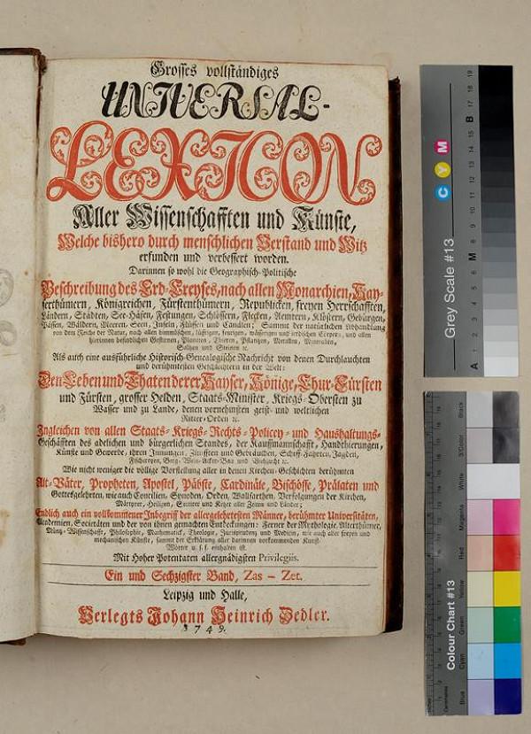 neurčený autor, Heinrich Johann Zedler – Grosses Vollständiges Universal Lexicon. Sechzigster Band