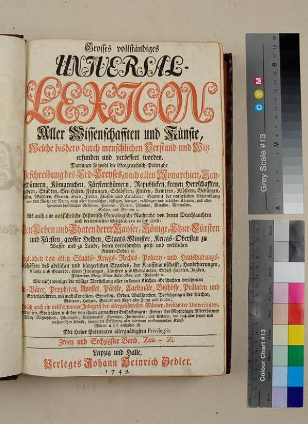 neurčený autor, Heinrich Johann Zedler – Grosses vollständiges Universal Lexikon. Zwey und Sechszigster Band
