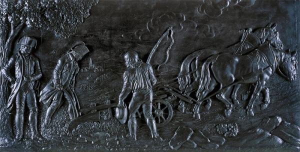 Josef Klieber - Josef II. orající na poli u Slavíkovic