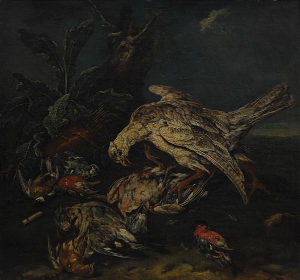 Karel Wilhelm Hamilton - Mrtví ptáci s dravcem