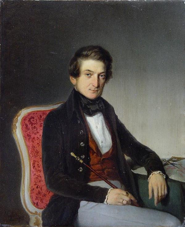 Johann Baptist (Jan Křtitel) Nejebse - Podobizna hraběte A.Dubského - Lysice