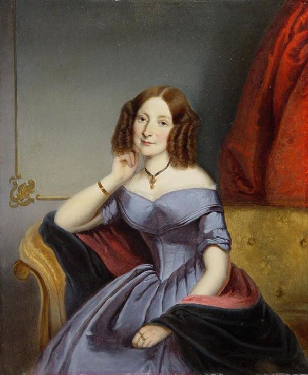 Johann Baptist (Jan Křtitel) Nejebse - Podobizna hraběnky M. Dubské, zakladatelka dětské nemocnice v Brně