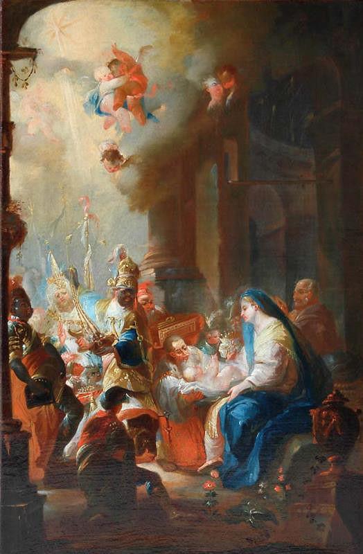 Johann Jablonský - Klanění tří králů