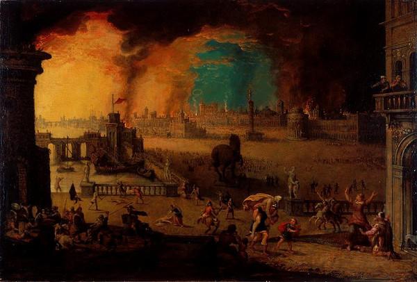 Pieter Schoubroeck – Aeneas vynáší svého otce Anchise z hořící Troje