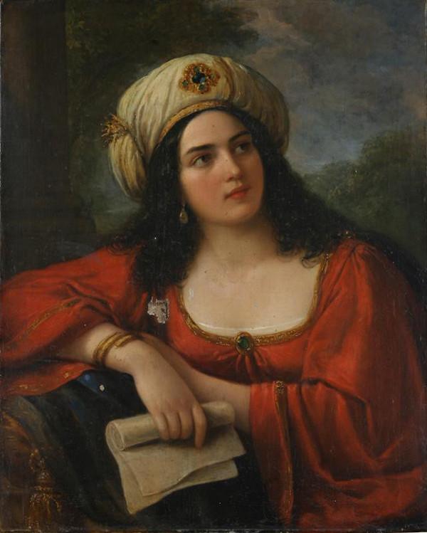Natale Schiavoni – Podobizna dívky v orientálním šatu