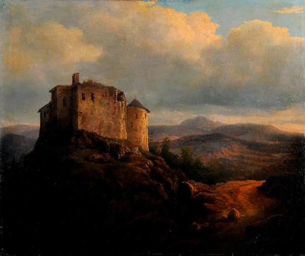 Augustin Bedřich Piepenhagen – Krajina s hradem