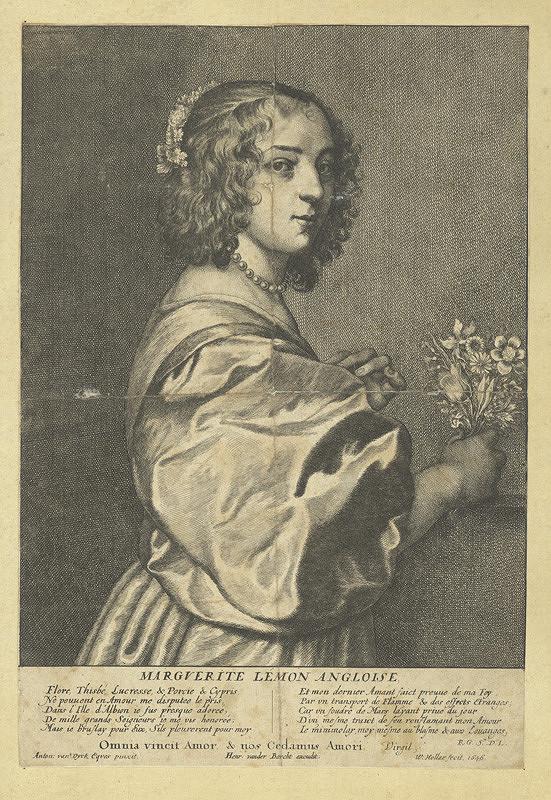 Václav Hollar – Margareta Lemonová, podle Anthonise van Dycka