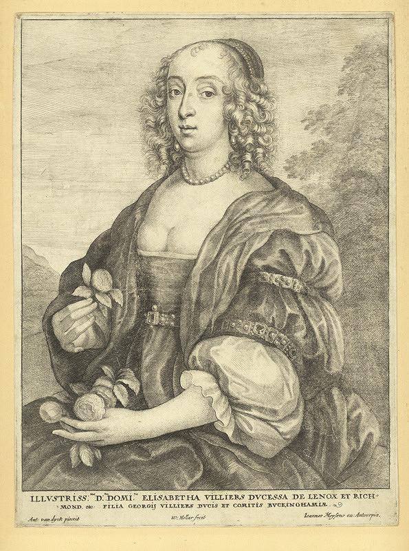 Václav Hollar – Vévodkyně z Lenoxu, podle Anthonise van Dycka