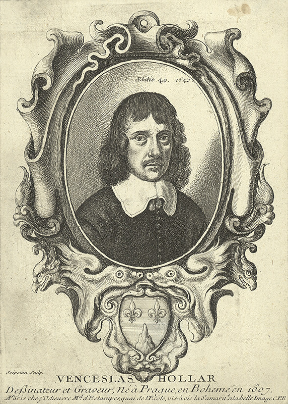Václav Hollar - Wenceslaus Hollar – Autoportrét v kartuši