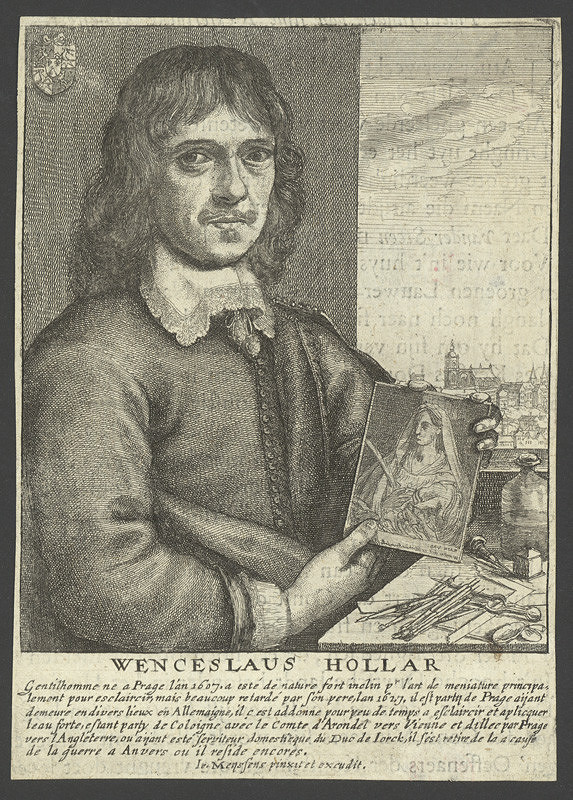 Václav Hollar - Wenceslaus Hollar – vlastní portrét, podle Joannese Meyssense