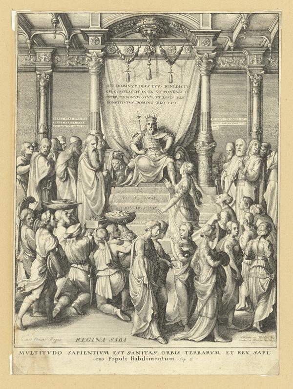 Václav Hollar – Šalamoun a královna ze Sáby, podle Hanse Holbeina