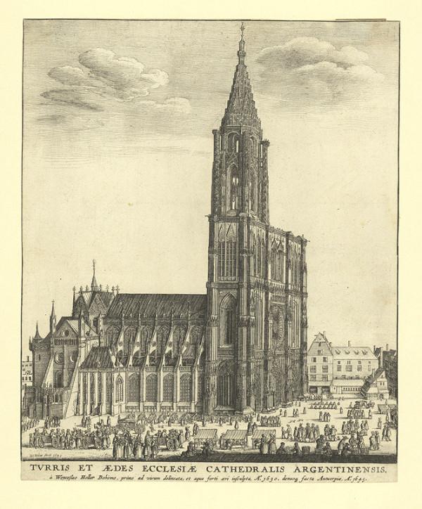 Václav Hollar – Strassburger Münster / Pohled na katedrálu ve Štrasburku