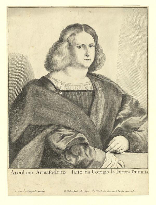 Václav Hollar – Arcolano Armafrodito, podle Correggia
