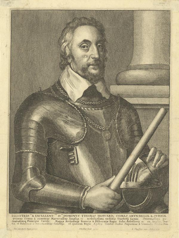 Václav Hollar – Thomas Howard Comes Arundeliae / Sir Thomas Howard, hrabě z Arundelu, podle Anthonise van Dycka