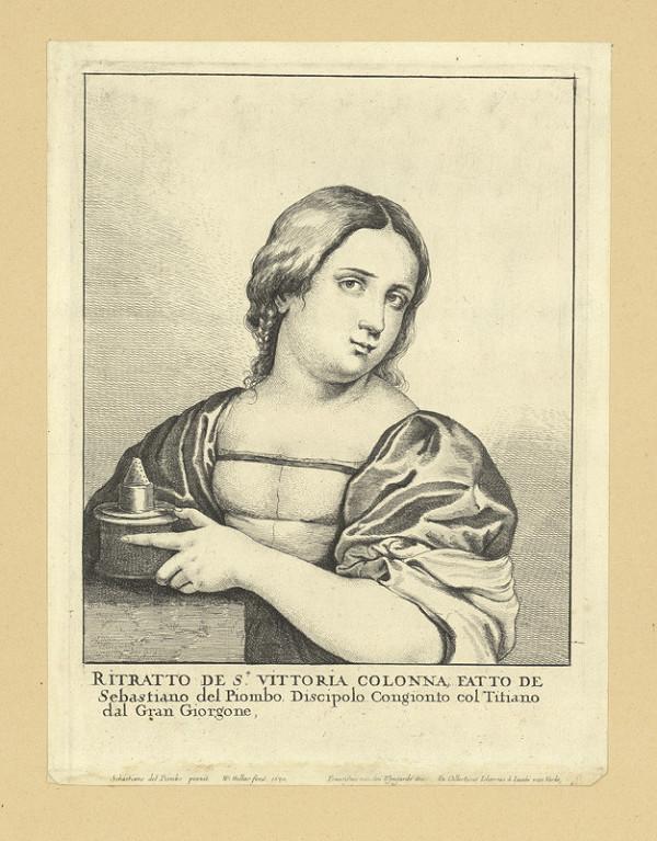 Václav Hollar – Vittoria Colonna, podle Sebastiana del Piombo
