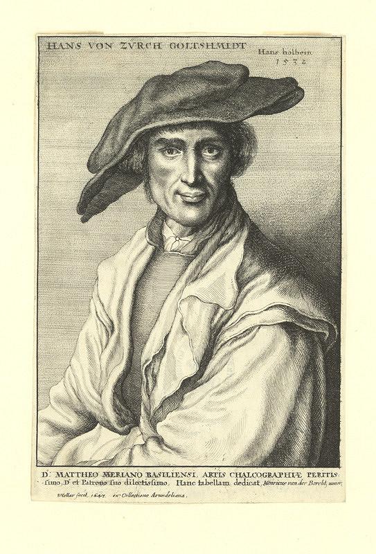 Václav Hollar – Hans von Zürich, podle Hanse Holbeina