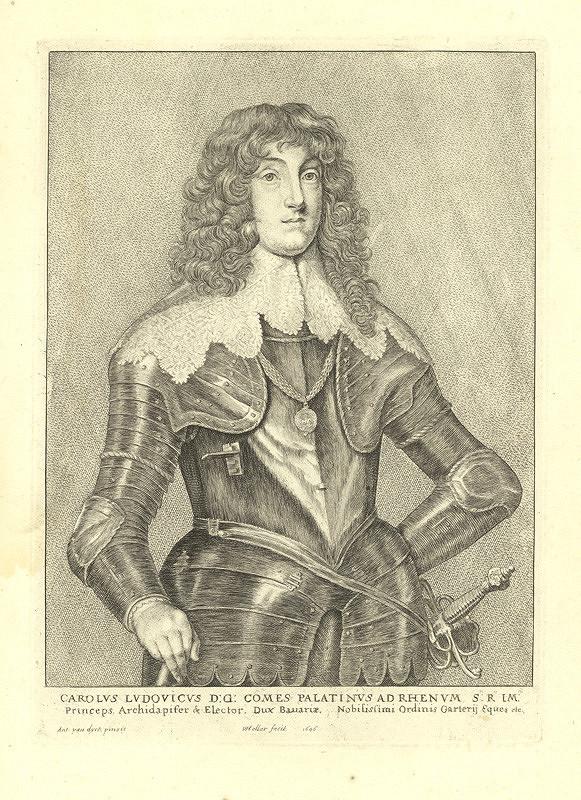 Václav Hollar – Karel Ludvík Falcký, podle Anthonise van Dycka