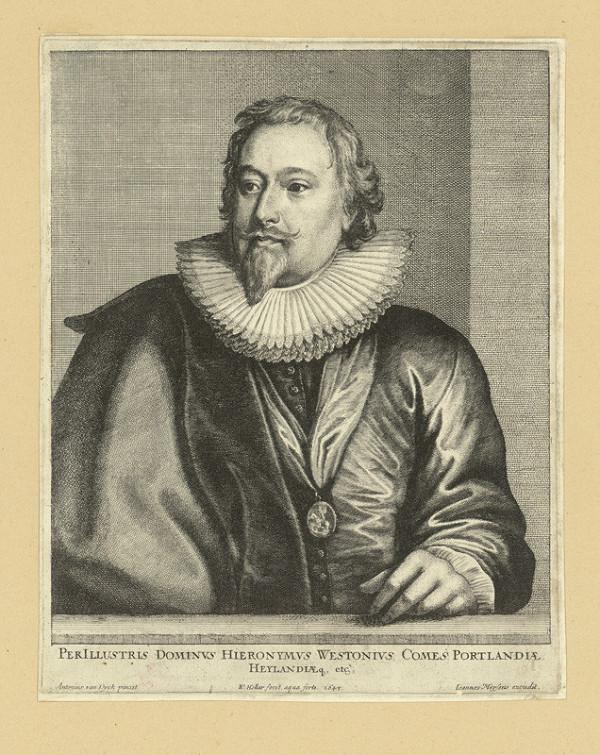Václav Hollar – Hieronimus Westonis, hrabě z Portlandu, podle Anthonise van Dycka