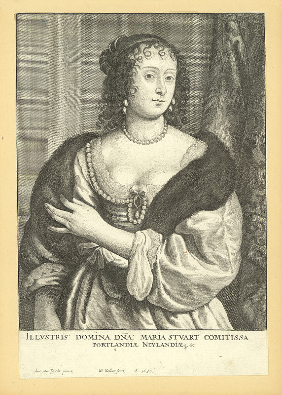 Václav Hollar – Marie Stuart, hraběnka z Portlandu, podle Anthonise van Dycka