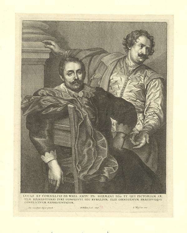 Václav Hollar – Bratři Lukas a Cornelius de Wael, podle Anthonise van Dycka