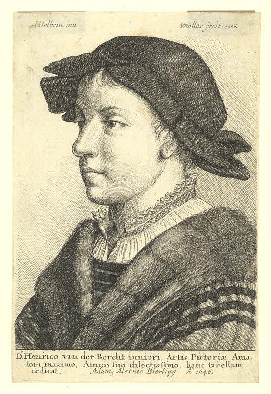 Václav Hollar – Portrét mladíka, podle Hanse Holbeina