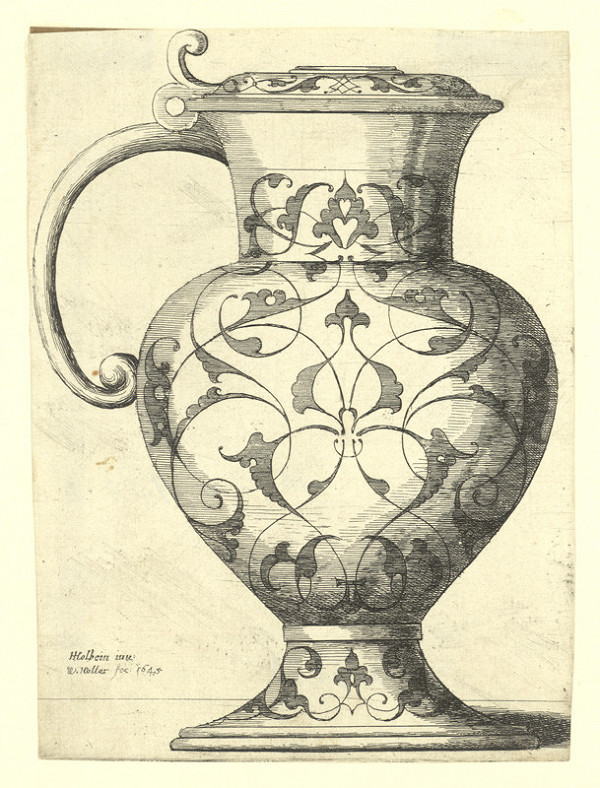 Václav Hollar - Džbán s víkem, podle Hanse Holbeina