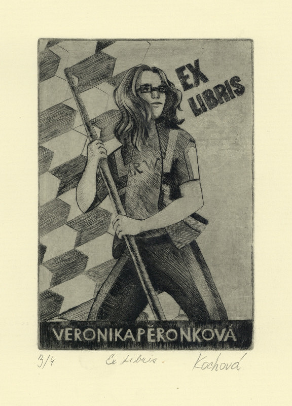 Klára Kochová - Ex libris Veronika Pěronková