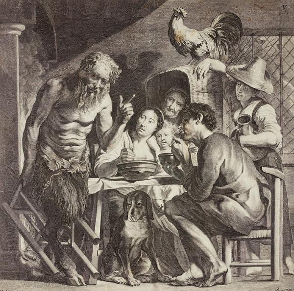 Lukas Vorsterman II. – Velký Satyr (podle J. Jordaense)