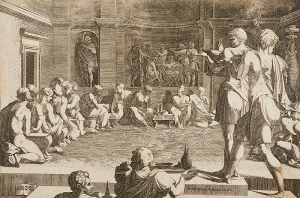 Domenico del Barbiere – Antická hostina (podle Francesca Primaticcia)
