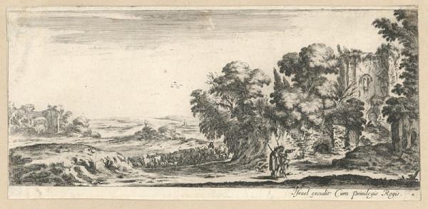 Stefano della Bella – Krajina se zříceninou (podle J. Callota)