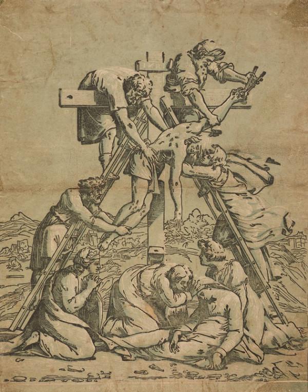 Ugo da Carpi – Snímání z kříže (podle Raffaela)