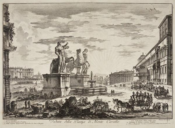 Giambattista Piranesi – Náměstí Monte Cavallo v Římě