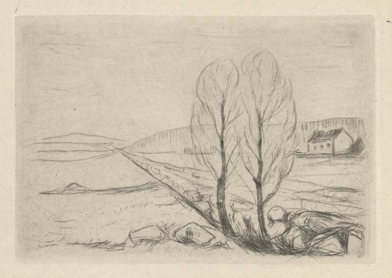 Edward Munch – Krajina se dvěma stromy, 1880 – 1944
