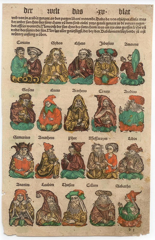 Michael Wolgemut – Ilustrace pro knihu Chronicka der Welt