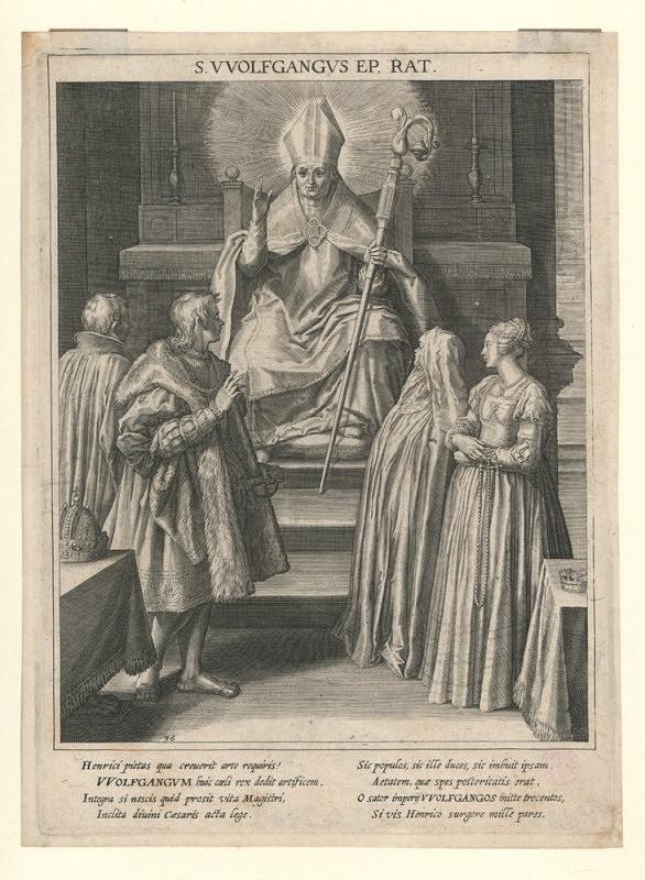 Raphael Sadeler ml. – Patronka Bavorska s archandělem Michaelem a pohledem na Mnichov (podle M. Kagera)