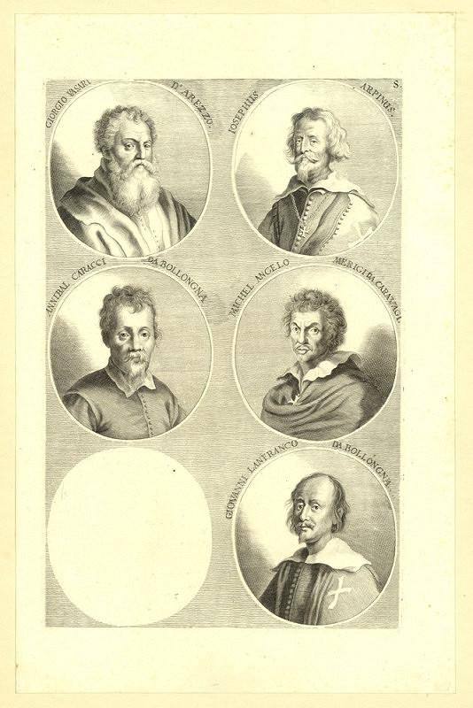 Joachim von Sandrart – Podobizny pěti italských malířů