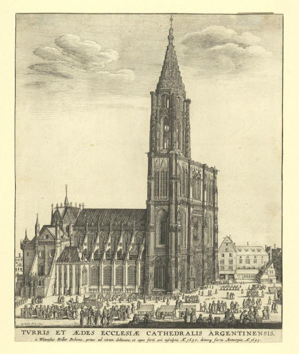 Václav Hollar – Pohled na katedrálu ve Štrasburku