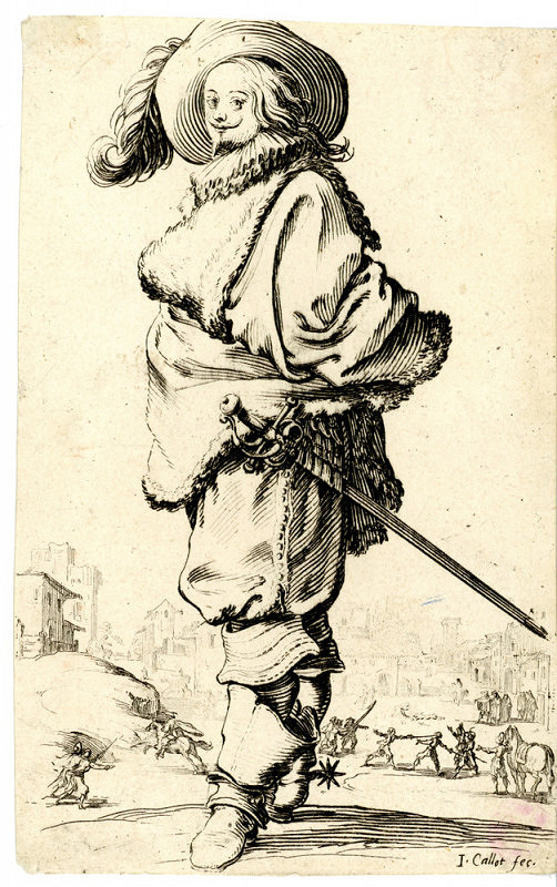 Jacques Callot – Šlechtic s krejzlem (z cyklu La Noblesse)