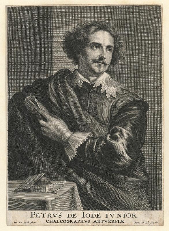 Peter de Jode II. – Portrét rytce Petra de Jode jr. (podle A. van Dycka)