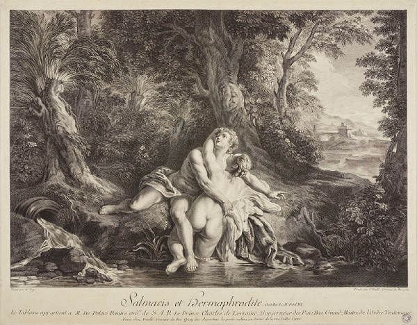 Jean Daullé – Salmacio a Hermafrodit (podle J. F. de Troye)