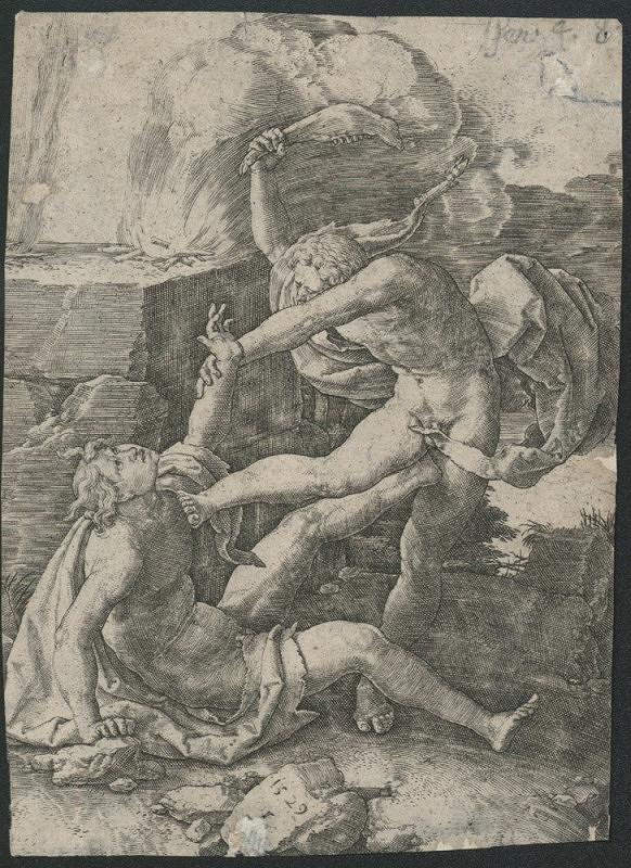 Lucas van Leyden – Kain zabíjí Abela