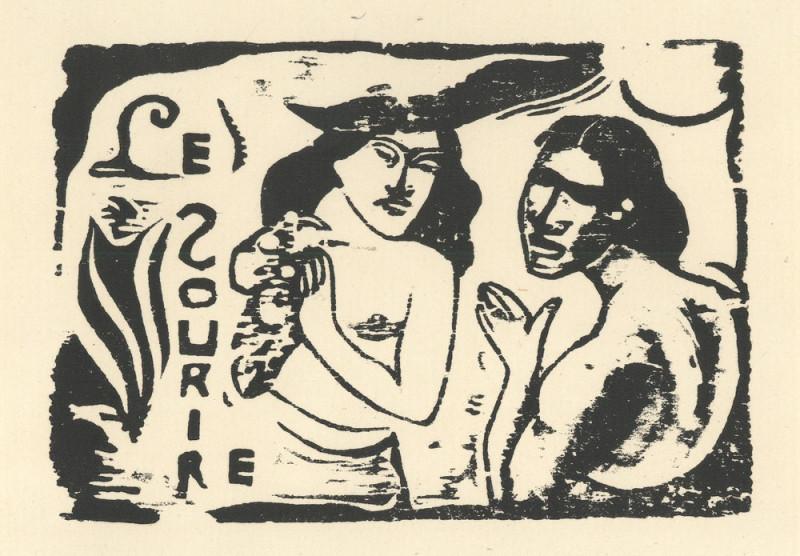 Paul Gauguin – Záhlavie revue Úsmev / Le Sourire, 1899, Památník národního písemnictví